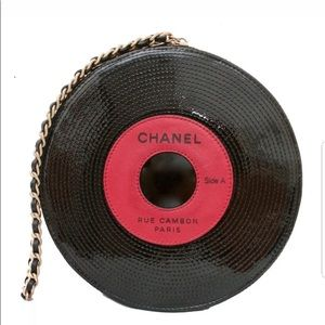 Authentic chanel record bag